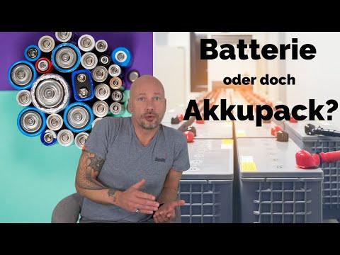 Batterien vs. Akkupacks