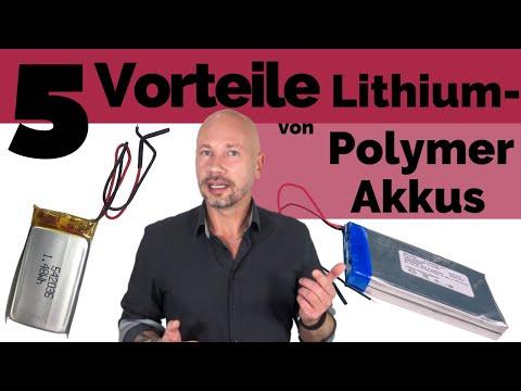 5 Vorteile von Lithium-Polymer Akkus