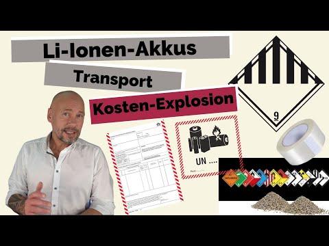 Beförderung und Transport von Lithium-Ionen-Akkus kann zur Kostenexplosion führen