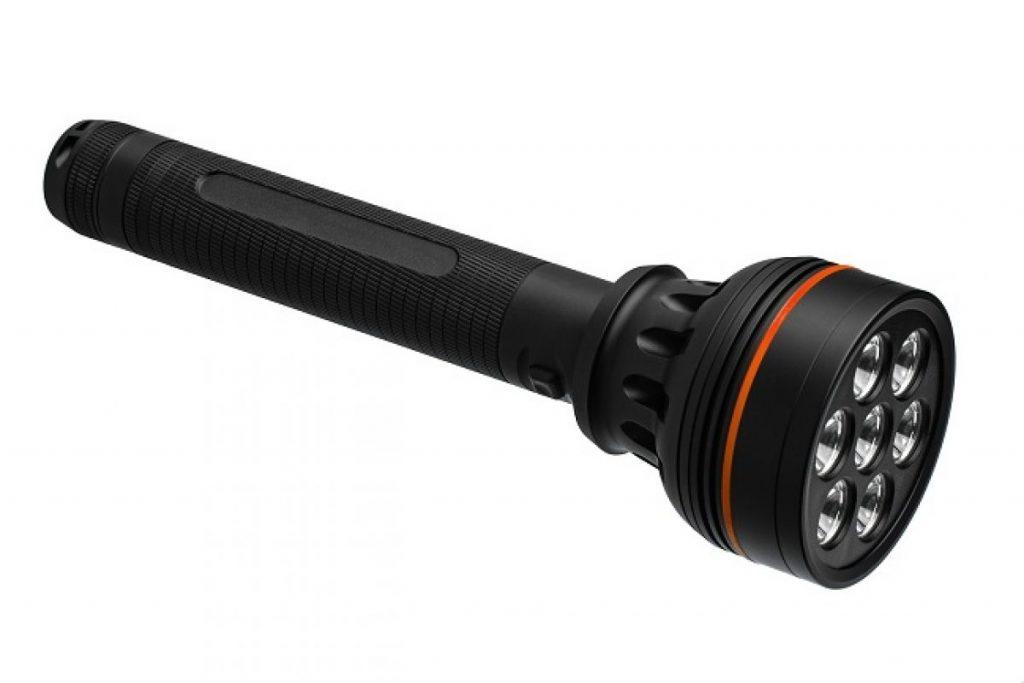 Explosionsgeschützte Taschenlampe mit schwarzem Griff