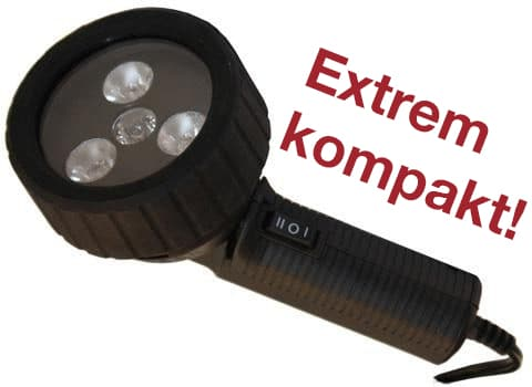 UV-Lampe, Schrift auf Bild: Extrem kompakt