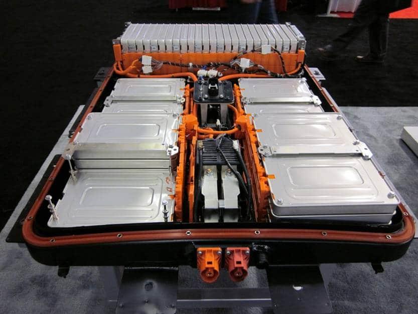 Batterie eines Nissan Leaf Elektroautos