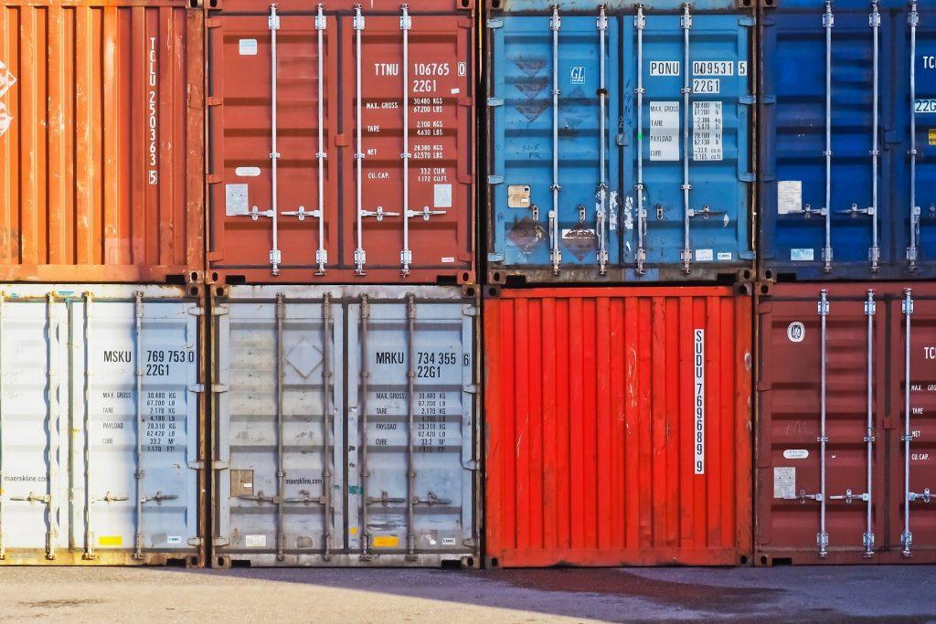 Lagerung in Überseecontainern